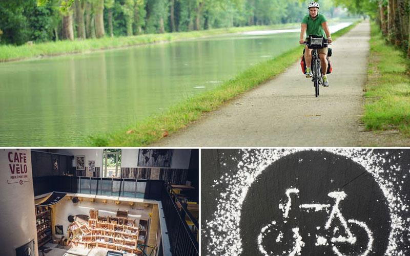 Canal Bridge Biking place