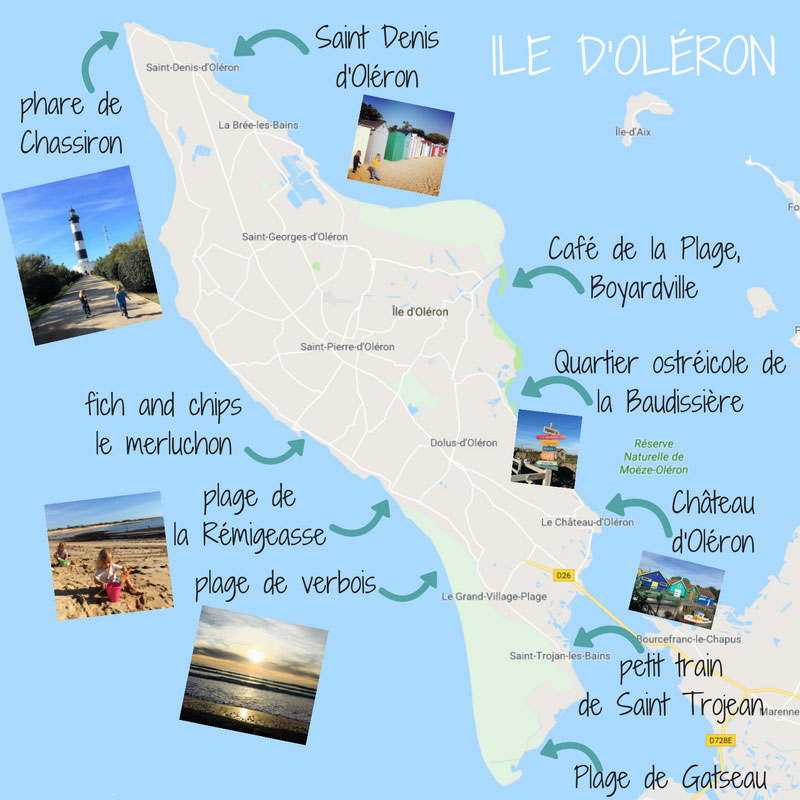 Oleron Island Map