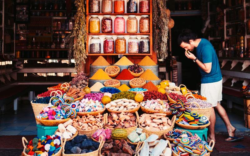 Morocco agadir spices store